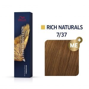 tinte 7/37 wella rich naturals