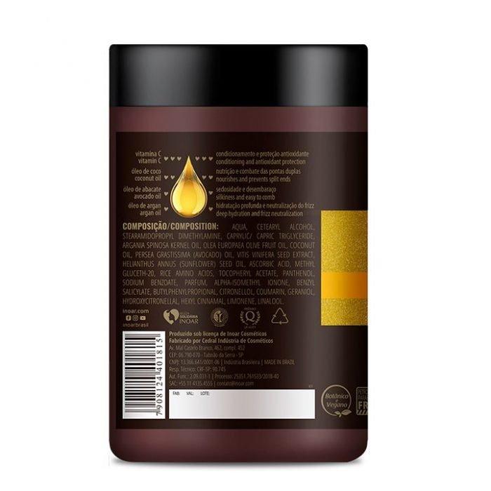 etiqueta de ingredientes mascarilla blends