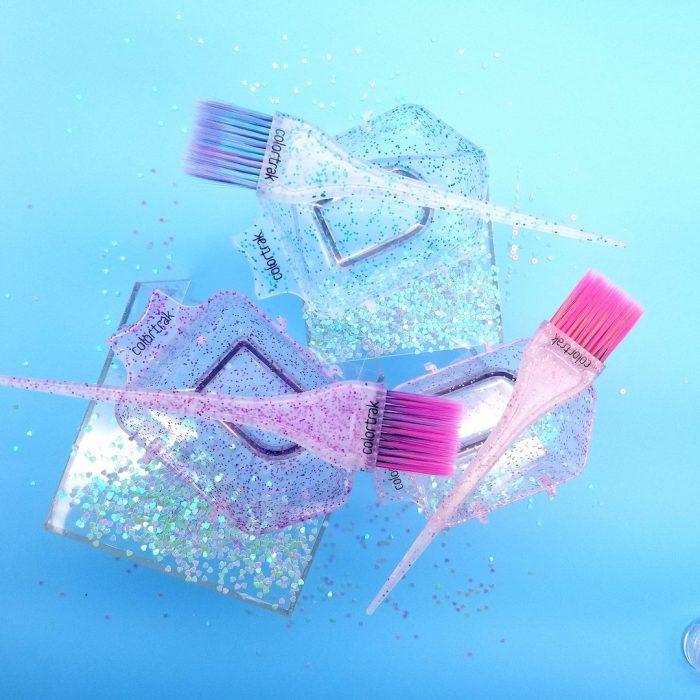 combo pinceles glitter