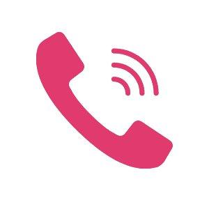 icono teléfono de atención personalizada