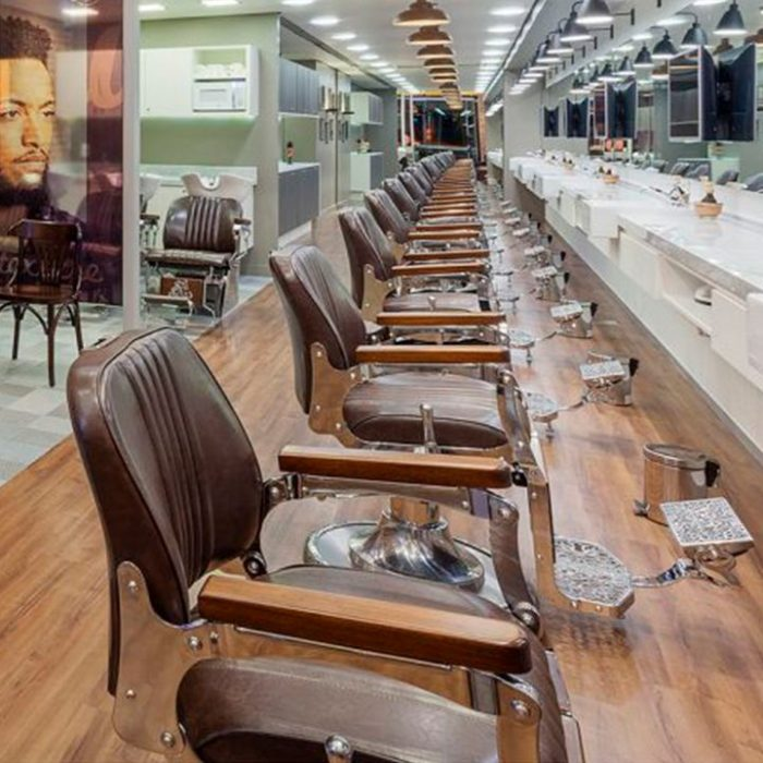 Salón de belleza con sillones van de velde