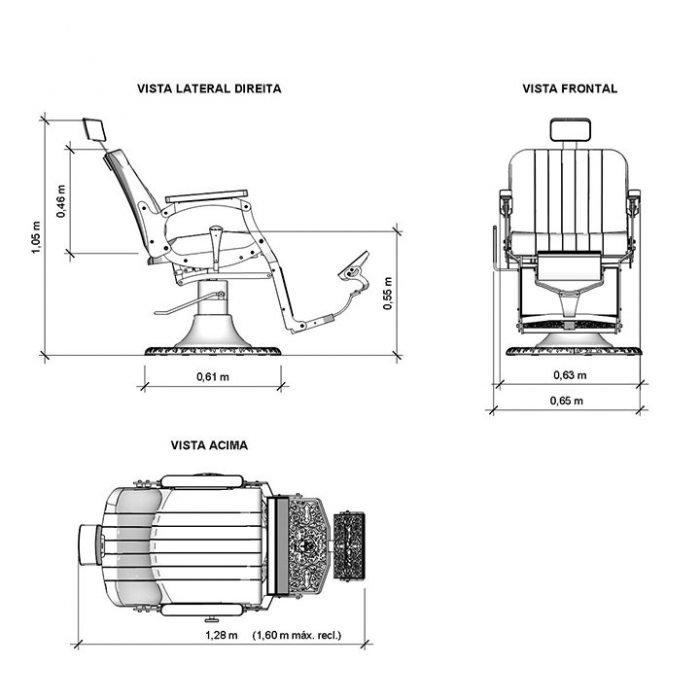 Especificaciones sillón retro serie I