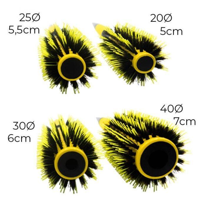 4 diámetros diferentes de los cepillos Copacabana